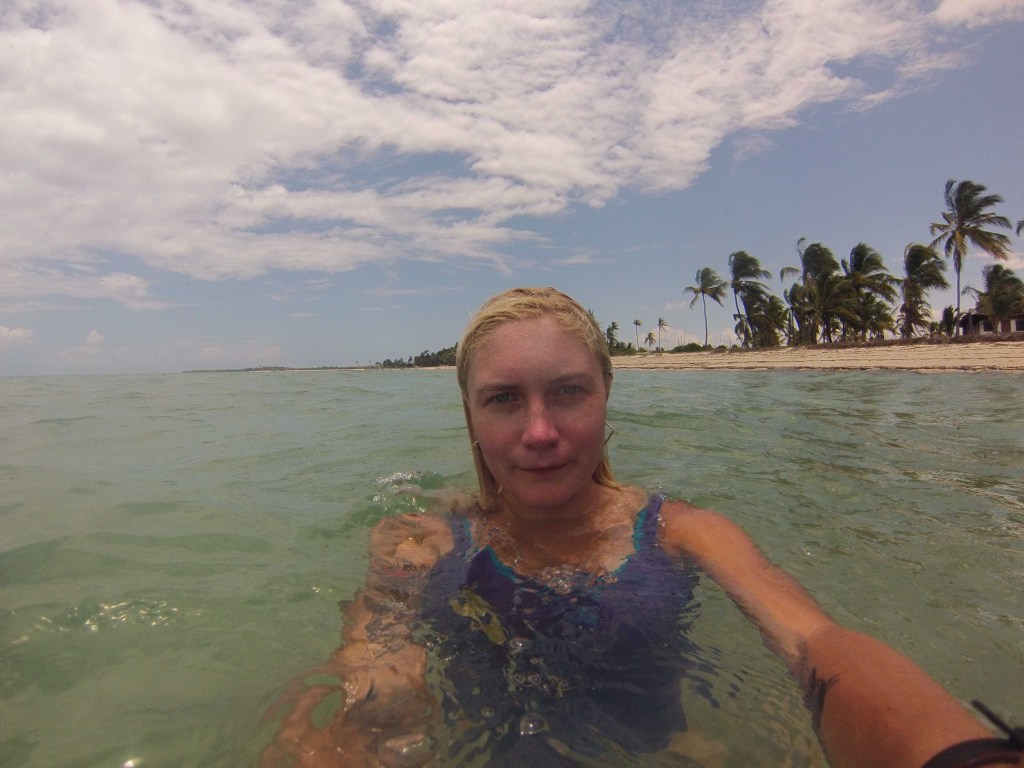 Swimming in Kilwa with my GoPro