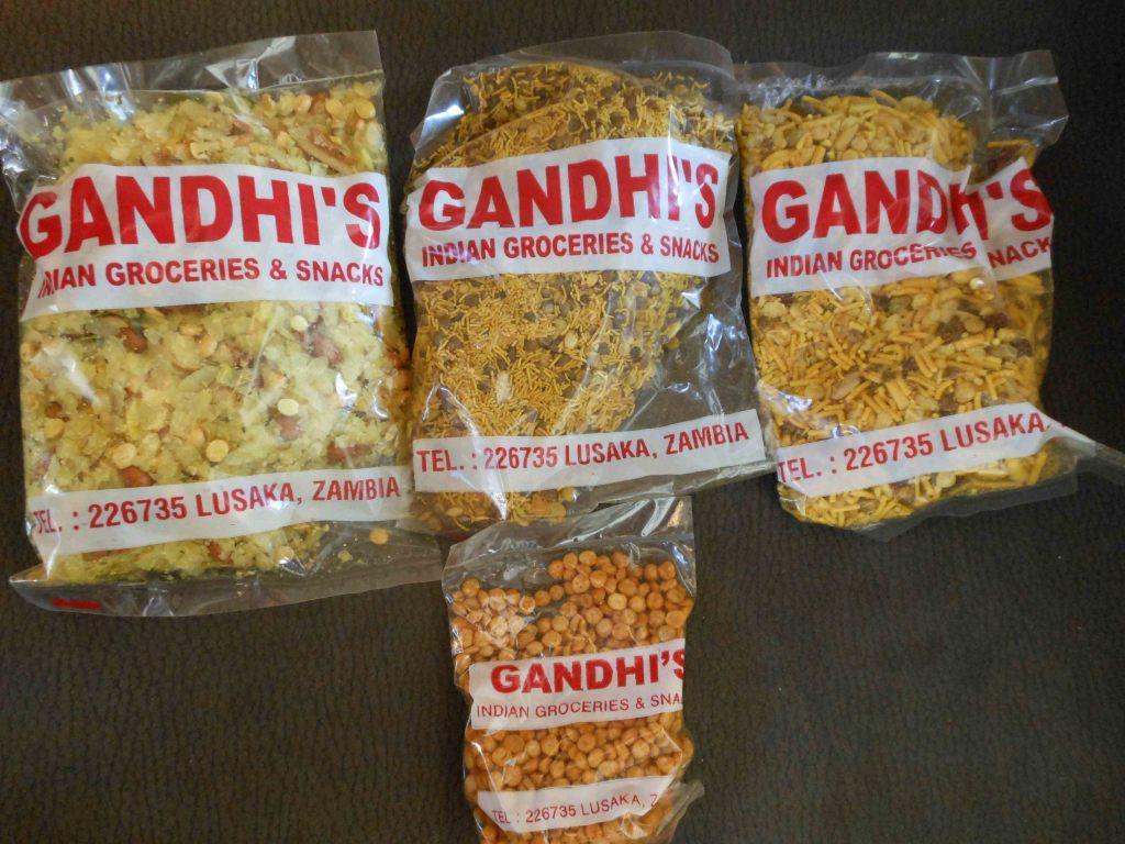 Indian snacks bought in Lusaka