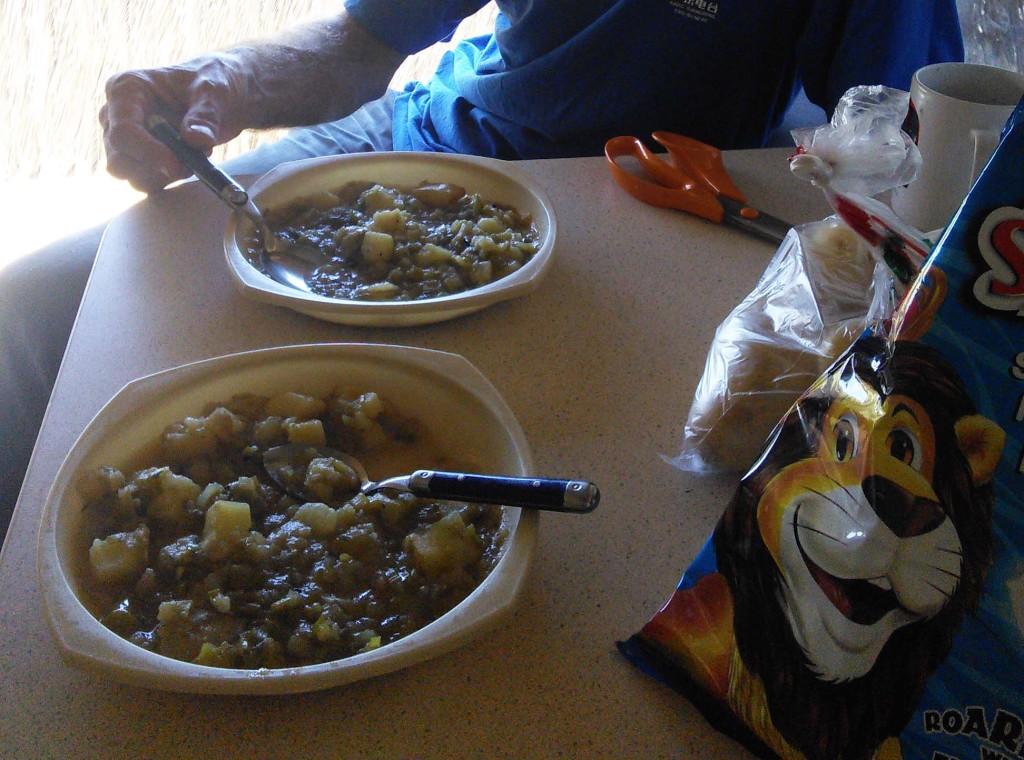 Potato leek soup and salt&vinegar Simba crisps
