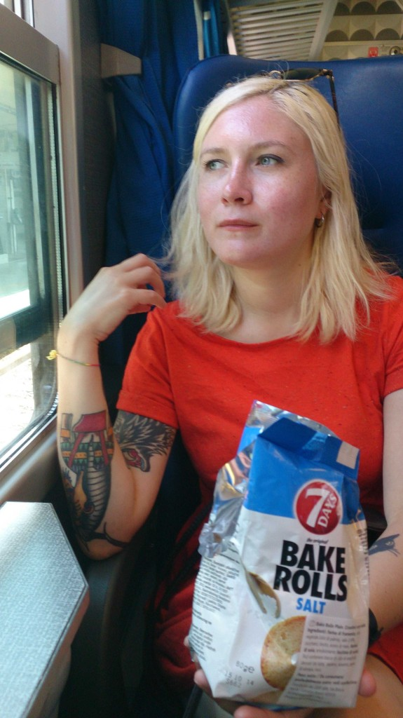 One of our many snacks, on a train to Florence