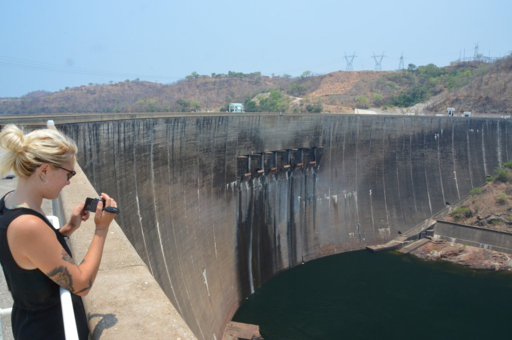 The Lake Kariba dam on the Zimbabwe side