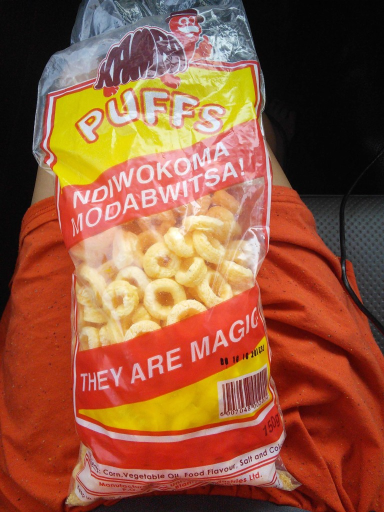 Corn puffs treat from Malawi