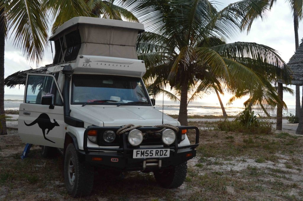 Troopy hanging out in Kilwa