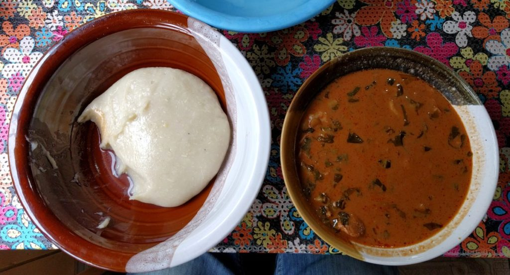Fufu and Groundnut Soup -Very Filling!
